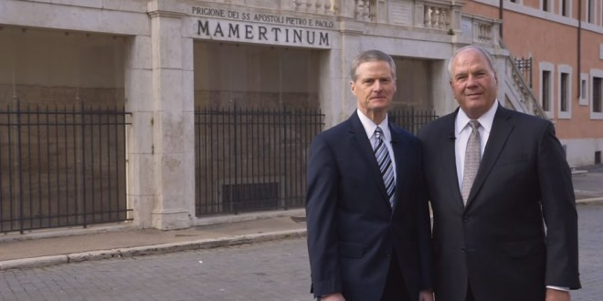 Elder Bendar & Elder Rasband Walk in the Footsteps of Peter, Paul