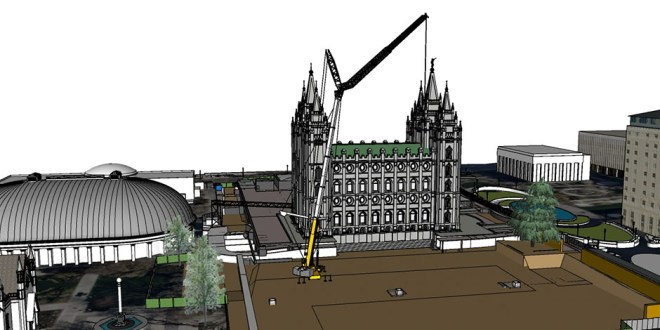 Angel Moroni, Stone Spires to Be Removed from Salt Lake Temple