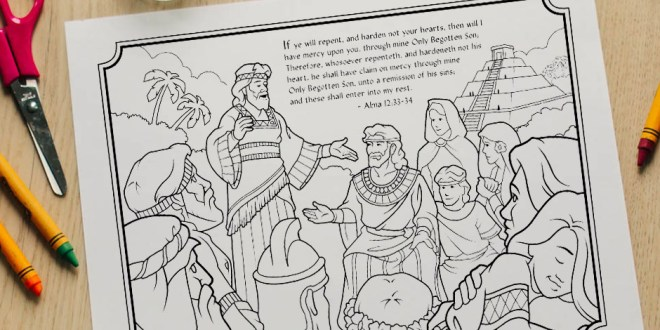 Here's Your Free Come, Follow Me Coloring Page - June 8-14, 2020