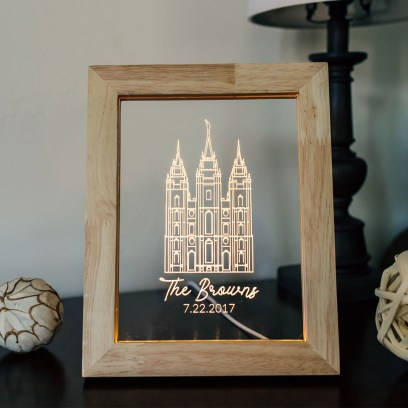 Salt Lake City Temple Illuminated Frame