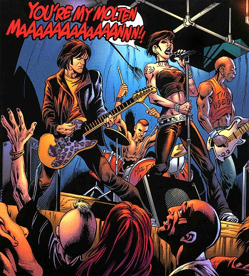 Rock Band da un Comics di Spiderman