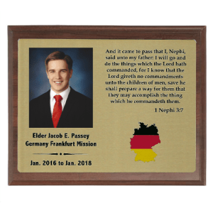 Sublimated Missionary Plaque