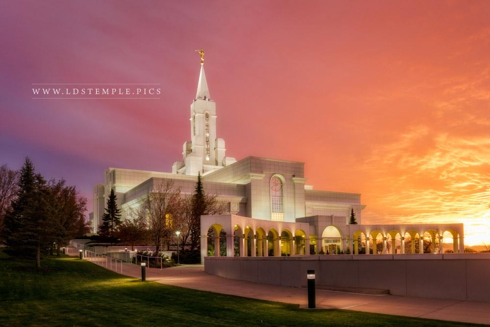 Fall Lake Wallpaper Bountiful Temple Autumn Sunset Southwest Lds Temple Pictures