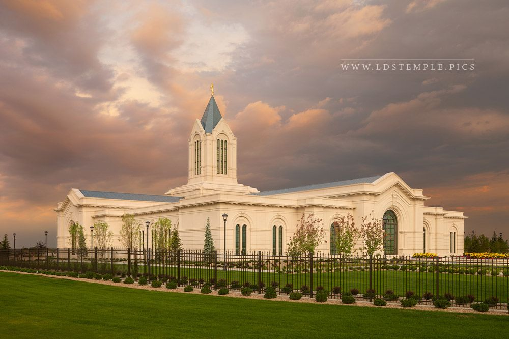 Fort Collins Temple Sunset Southeast  LDS Temple Pictures