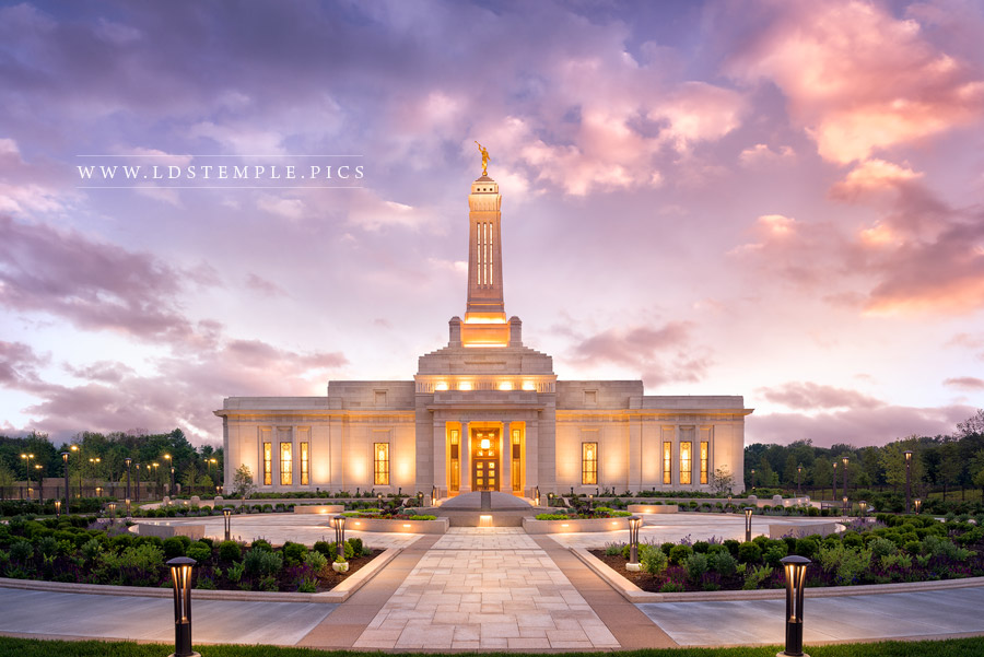 Indianapolis Indiana Temple Pictures  LDS Temple Pictures