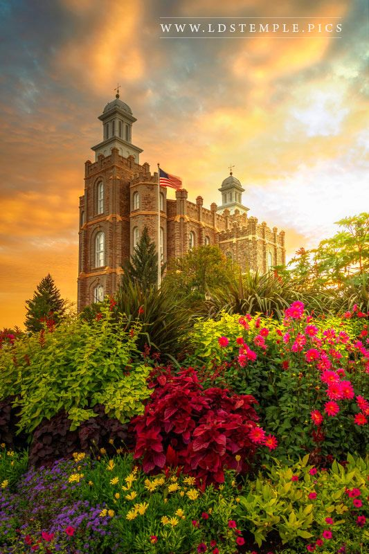 Florida Beach Fall Wallpaper Logan Temple Sunset Lds Temple Pictures