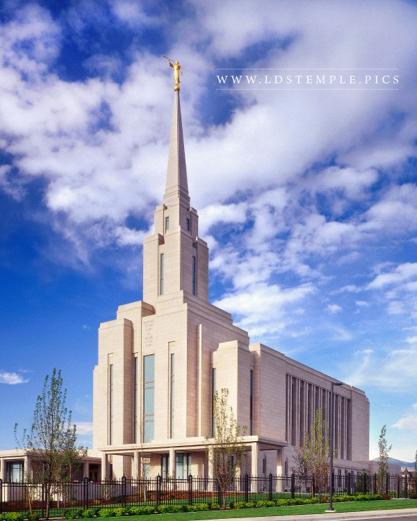 Oquirrh Mountain Temple Summer Morning  LDS Temple Pictures