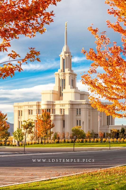 Payson Temple Colors of Autumn  LDS Temple Pictures