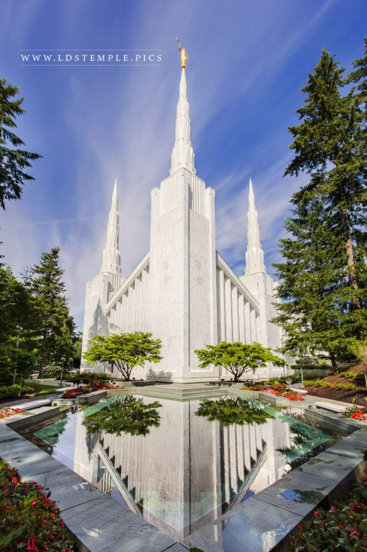 Portland Oregon Temple Morning Vertical  LDS Temple Pictures