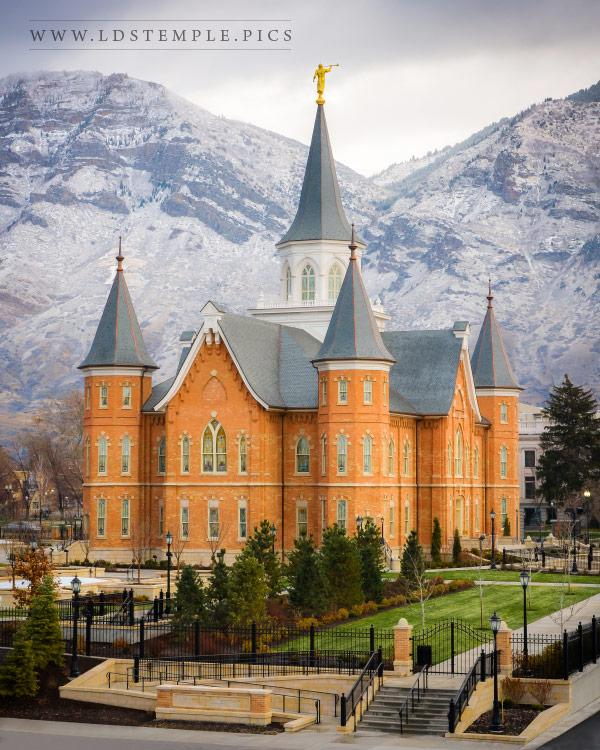 provocitycentertemplefirstsnow  LDS Temple Pictures