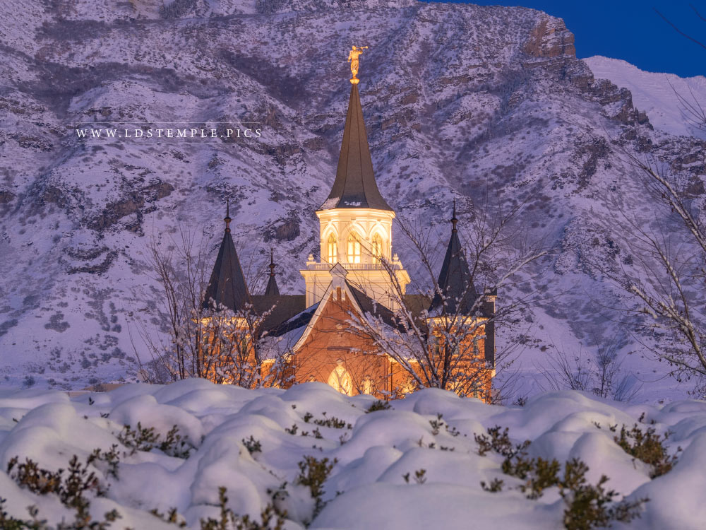 Provo City Center Temple Snow on Snow  LDS Temple Pictures