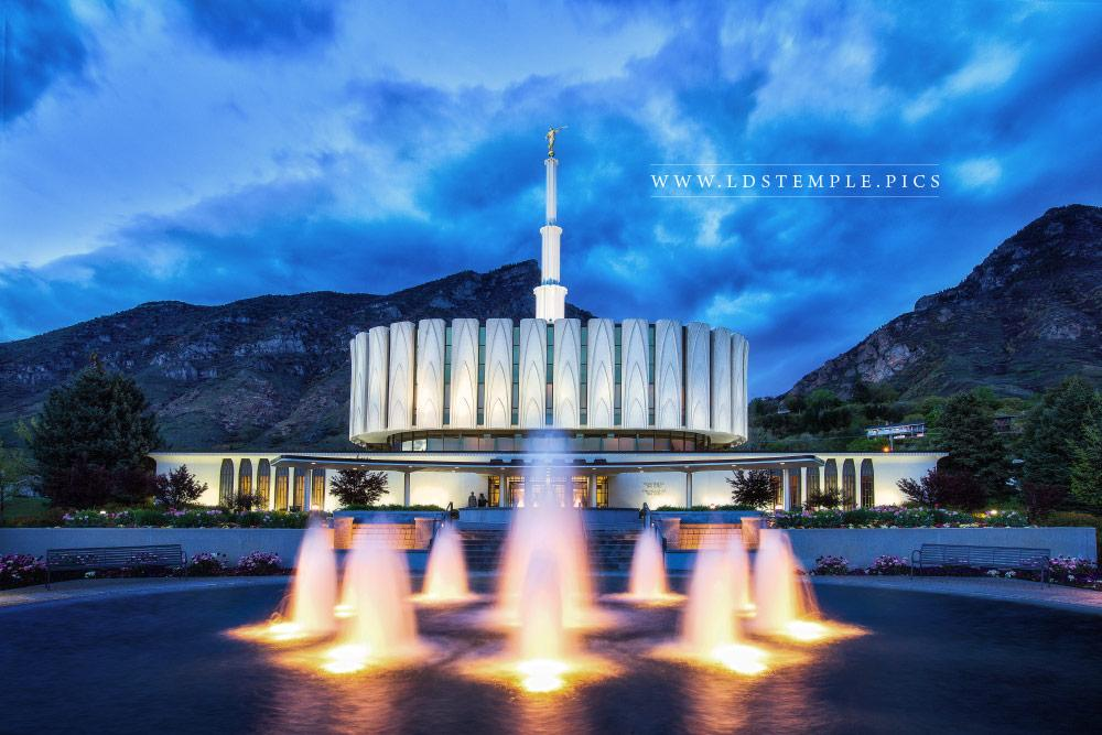 Provo Temple Summer Twilight  LDS Temple Pictures