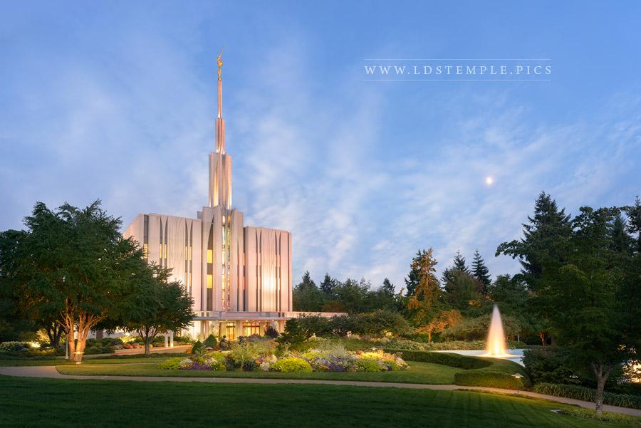 seattletemplebluehour  LDS Temple Pictures