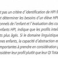Qui sont les HPI ?