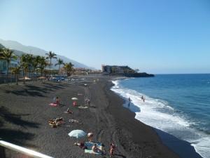 Puerto Naos,, avec en fond, l'hôtel Sol  la Palma