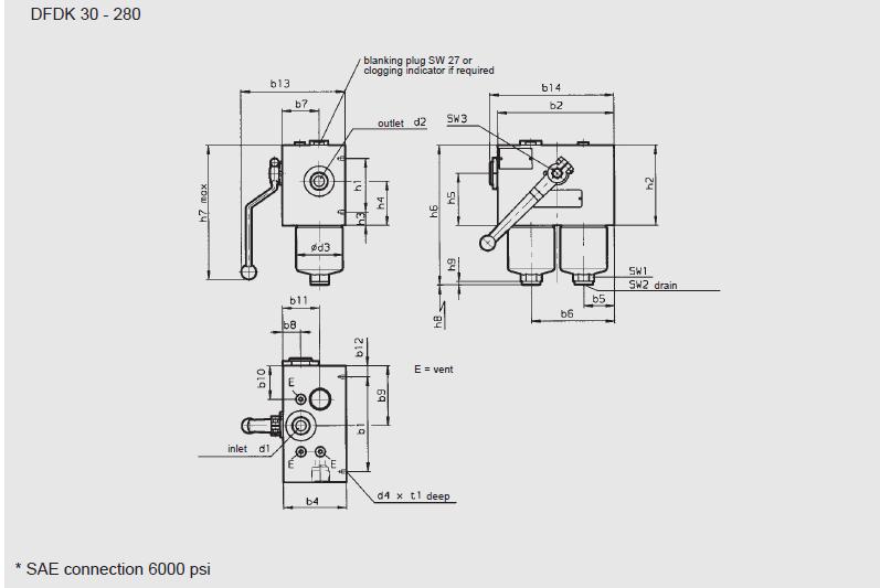International HYDAC DFDK Series Change-Over Pressure