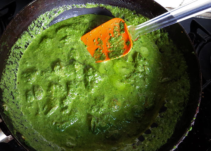Aloo palak tipos de curry: crema