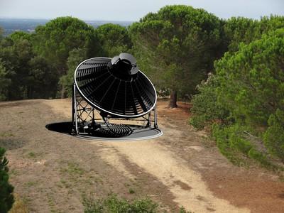 Le four solaire lorsqu'il sera installé prochainement sur le site