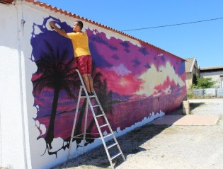 Fresque de Diips sur le mur du club « Atlantis 66 » à Rivesaltes – Photo © le journal catalan.com