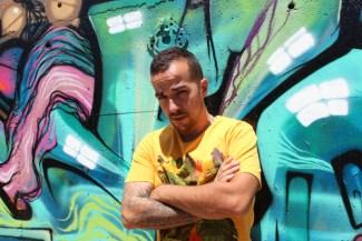 « Je suis dans le crew G 2 K et je signe parfois d'un deuxième nom. Dans un esprit vandale. » – Photo © le journal catalan.com