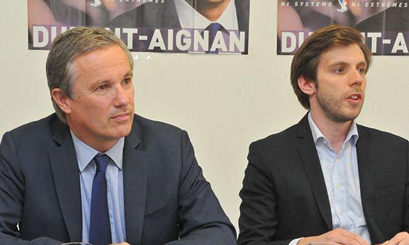 Damien Lempereur et Nicolas Dupont-Aignan