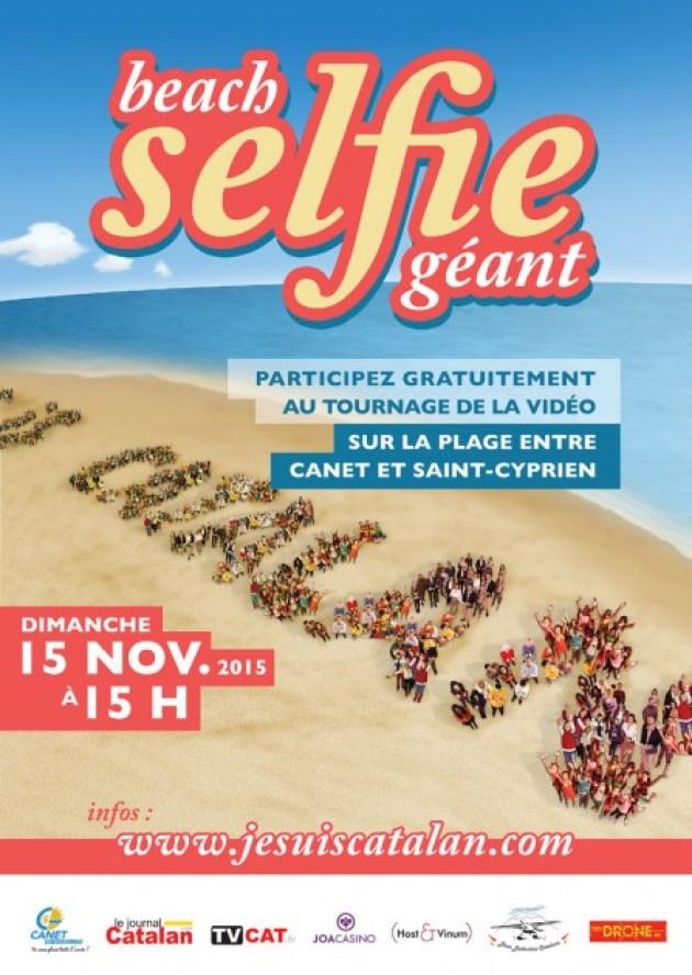 beach-selfie-geant-canet-perpignan-catalan