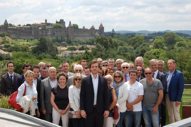 Damien Lempereur et ses colistiers dans une ville qui a vocation a acceuillir un service régional : Carcassonne.