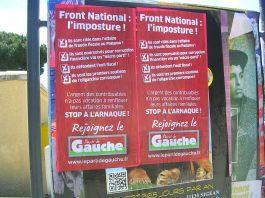 Front National Imposture dénoncée par la Parti de Gauche