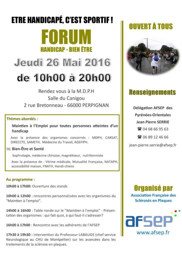 Programme du Forum-Handicap Bien être