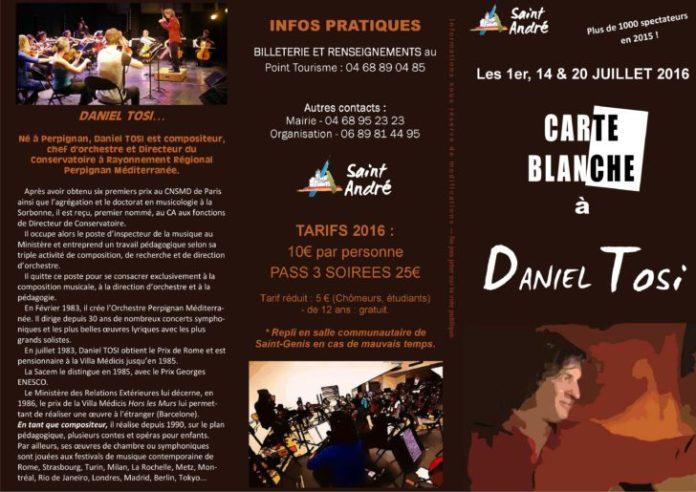 Programme Daniel Tosi