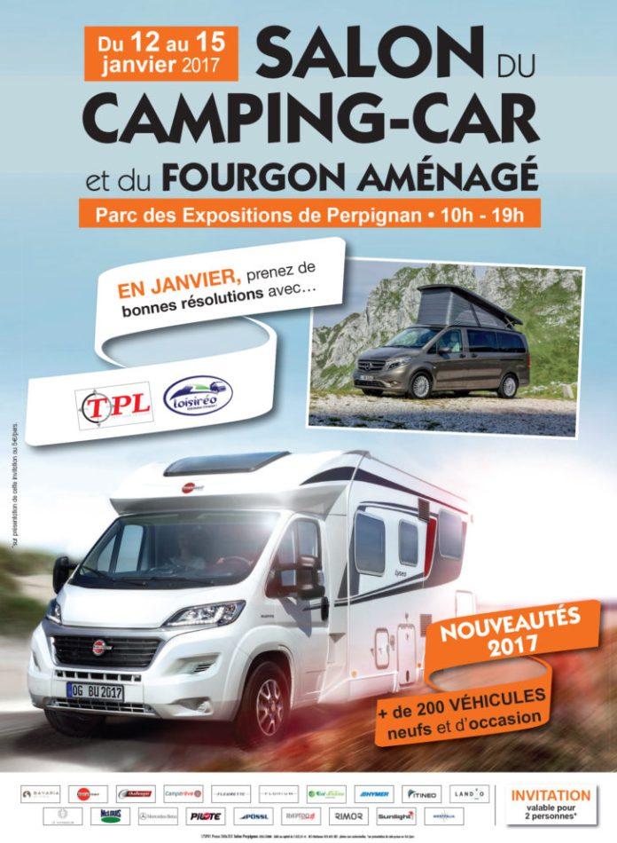 Afffiche salon du Camping-car et du Fourgon Aménagé