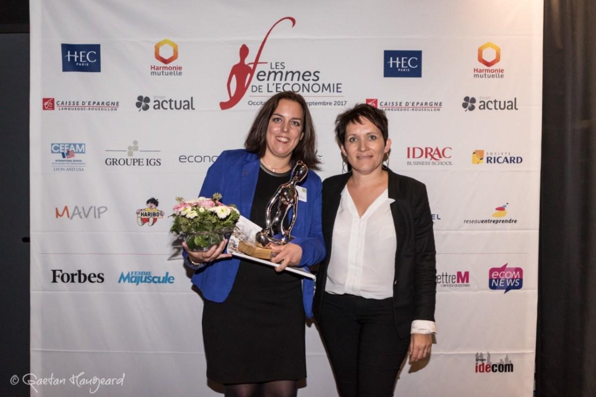 Deuxième cérémonie des trophées Les femmes de l'économie : Carole Gleyzes du Centre hospitalier de Thuir récompensée