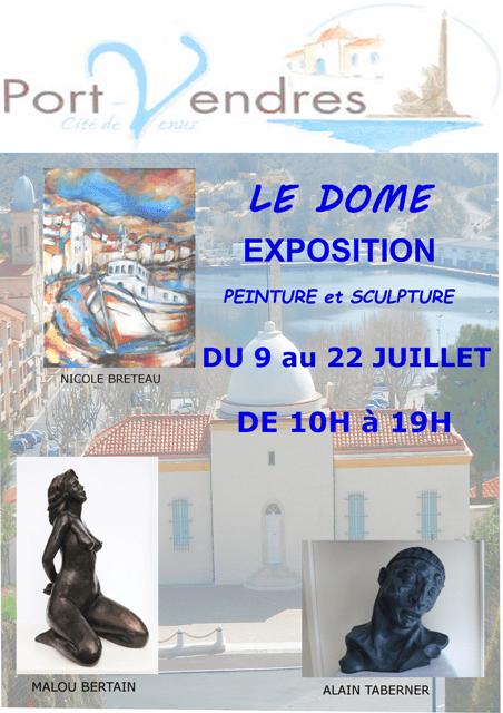 exposition-peintures-et-sculptures-dome-centre-dart-du-9-au-23-juillet