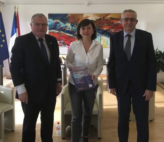 Jean-Marc Pujol et François Calvet reçus par Carole Delga