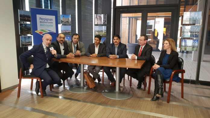 Accueil d'une délégation indienne