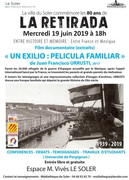Soirée conférence, débat, témoignage au Soler pour les 80 ans de la Retirada, le 19 juin