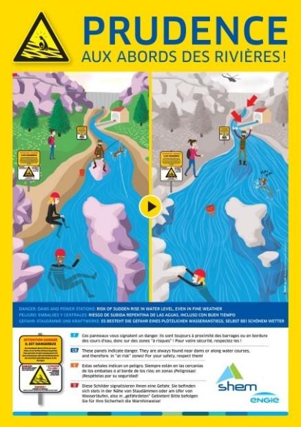 Rappel des consignes de sécurités aux abords des ouvrages hydroélectriques
