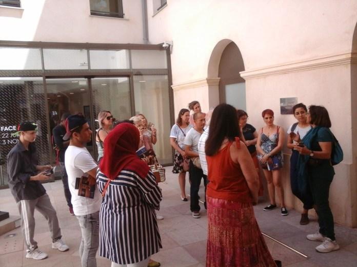 Visite au musée : une ouverture à la culture française proposée par l'équipe pédagogique de la Cimade66