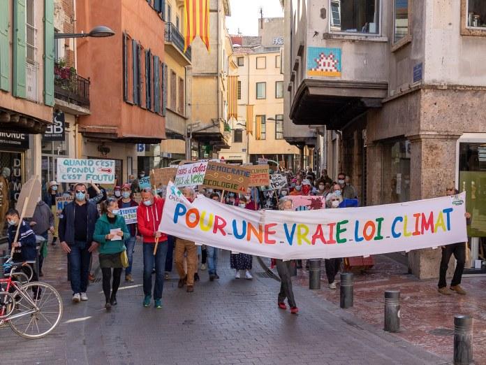 Loi climat forte mobilisation à Perpignan