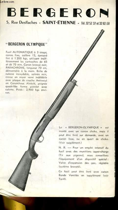 achetez cet articlebergeron olympique depliant d armes a feu