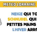 La neige arrive sur la Lorraine : massif et plaines blanches jeudi et vendredi prochain