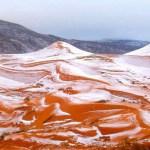 INSOLITE : Le désert du Sahara sous la neige pour la première fois depuis trente-sept ans