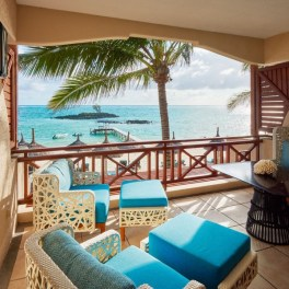 Terrasse d'une Junior Suite Beachfront