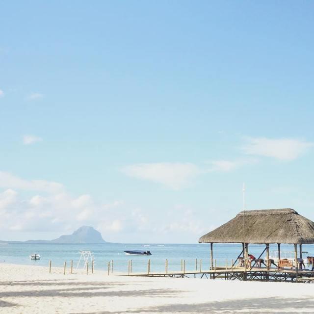 Sance matinale de yoga sur la plage de lapiroguemauritius hellip