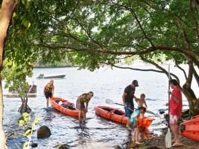 Découverte de la rivière en canoé