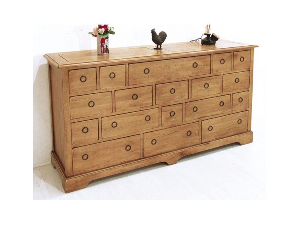 commode playa 3 en hevea massif de qualite meuble en bois massif pour la chambre le monde du lit