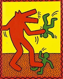 Keith Haring, barking dog 2
