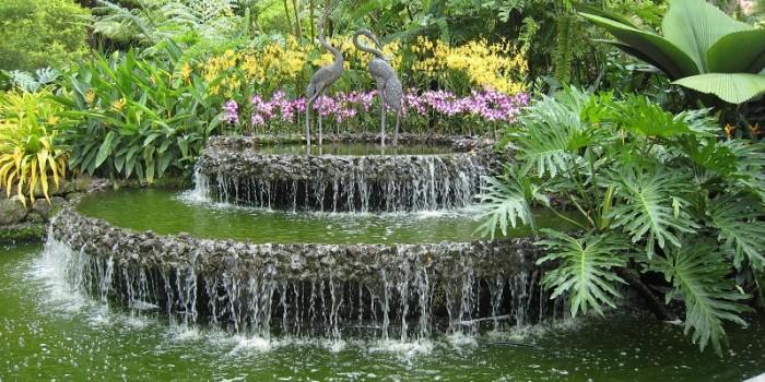 decorer son jardin avec une fontainele