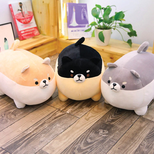 Peluches rondes shiba
