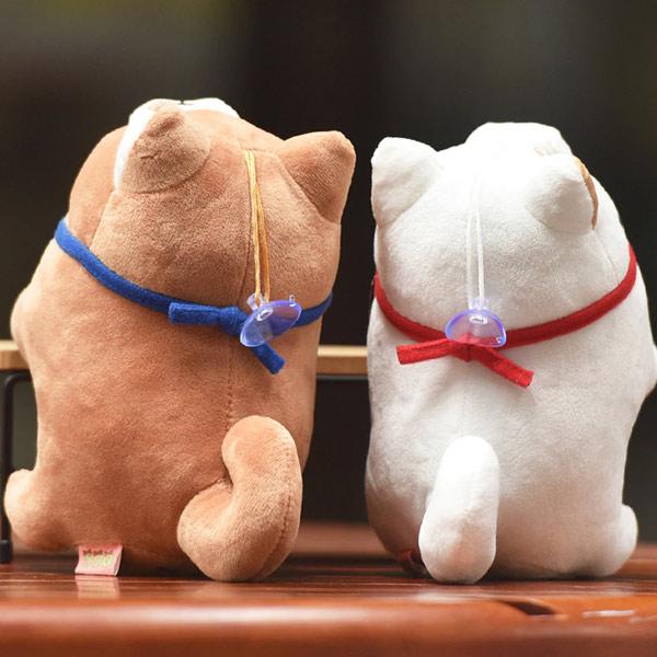 Dos Petites Peluches shiba roux et blanc japon
